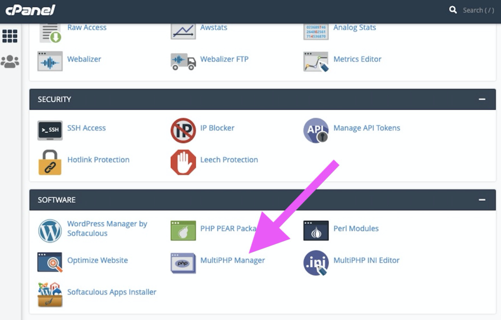 wordpress website updated- how to check php version view in CPanel