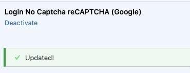 updated plugin notification